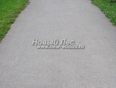 Садовая дорожка из асфальта (асфальтобетона)