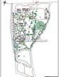 Ландшафтный проект участка парка у частного дома отдыха, дизайн, благоустройство и озеленение территории: генплан (генеральный план)