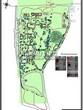 Ландшафтный проект участка парка у частного дома отдыха, дизайн, благоустройство и озеленение территории: разбивочно-посадочный план