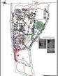 Ландшафтный проект участка парка у частного дома отдыха, дизайн, благоустройство и озеленение территории: схема вертикальной планировки