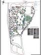 Ландшафтный проект участка парка у частного дома отдыха, дизайн, благоустройство и озеленение территории: дендроплан