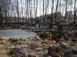 Строительство искусственного водоема и альпийской горки под ключ: вода в водоеме замёрзла, растения на горке засыпают - теперь всю зиму они будут спать