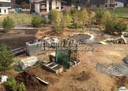 Озеленение участка: зона декоративного газона до работ по укладке