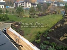 Ландшафтный дизайн часто предполагает озеленение с помощью создания декоративного газона