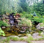 Ландшафтный дизайн: создание водных объектов (строительство водоемов и прудов, создание водопадов и ручьев, фонтаны)