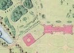 План посадки деревьев крупномеров при создании Царицынского пейзажного парка (аллеи, массивы, группы)