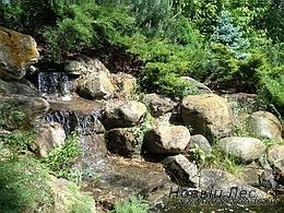 Искусственные водоемы - Каскад водопадов на ручье