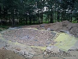 Водоемы - Строительство искусственных водоемов под ключ - Обустройство дна водоема