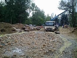 Водоемы - Строительство искусственных водоемов под ключ - Декорирование водоема, разгрузка больших камней