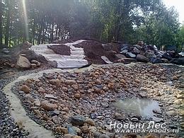Водоемы - Строительство искусственных водоемов под ключ - Обустройство водоема, гидроизоляция русла ручья